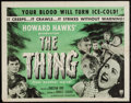 "Movie Posters:Science Fiction, The Thing from Another World (RKO, R-1954). Half Sheet (22"" X 28"").Science Fiction.. ..."
