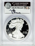 Miscellaneous, 2011-W $1 One Ounce Silver Eagle Insert autographed By John M.Mercanti,12th Chief Engraver of the U.S. Mint, PR70 Deep Cameo...