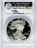 Modern Bullion Coins, 2004-W $1 One Ounce Silver Eagle Insert autographed By John M.Mercanti,12th Chief Engraver of the U.S. Mint, PR70 Deep Cameo...