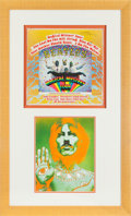 Music Memorabilia:Autographs and Signed Items, Beatles George Harrison Signed Magical Mystery Tour AlbumCover. ...