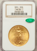 Saint-Gaudens Double Eagles: , 1924 $20 MS65 NGC. CAC. NGC Census: (32205/4803). PCGS Population(39493/8059). Mintage: 4,323,500. Numismedia Wsl. Price f...