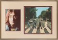 Music Memorabilia:Autographs and Signed Items, Beatles John Lennon Signed Abbey Road Cover Display....
