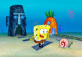 Animation Art:Production Cel, SpongeBob SquarePants SpongeBob and Gary First SeasonProduction Cel Set-Up (Nickelodeon, 1999)....