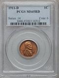 Lincoln Cents, 1911-D 1C MS65 Red PCGS....