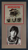 Music Memorabilia:Autographs and Signed Items, Beatles Paul McCartney Signed Beatles '65 Display....