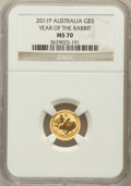 Australia, 2011-P G$5 Year of the Rabbit MS70 NGC. NGC Census: (0). PCGSPopulation (0)....