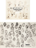 animation art:Model Sheet, Pvt. Snafu and Mr. Hook Model Sheet Group (Warner Brothers, c.1943).... (Total: 2 Items)
