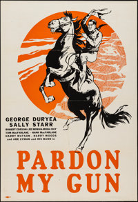 "Pardon My Gun (Pathé, 1930). Leader Press One Sheet (28"" X 41""). Western"