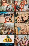 "Movie Posters:Adventure, El Cid (Allied Artists, 1961). Deluxe Lobby Card Set of 8 (11"" X14""). Adventure.. ... (Total: 8 Items)"