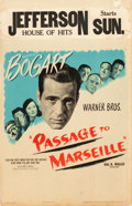 "Movie Posters:War, Passage to Marseille (Warner Brothers, 1944). Window Card (14"" X22"").. ..."