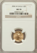 Modern Bullion Coins, 2006-W $5 Tenth-Ounce Gold Eagle MS70 NGC. NGC Census: (5358). PCGSPopulation (1129). Numismedia Wsl. Price for problem f...