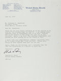 Autographs:Statesmen, Charles H. Percy, US Senator from Illinois. Typed Letter Signed.Very good....