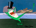 Animation Art:Presentation Cel, Chuck Jones Michigan J. Frog Publicity Cel (Warner Brothers,2004)....