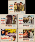 "Movie Posters:War, To the Shores of Tripoli (20th Century Fox, R-1952). Title LobbyCard & Lobby Cards (4) (11"" X 14""). War.. ... (Total: 5 Items)"