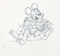 Animation Art:Production Drawing, Pluto's Party Mickey Mouse and Pluto Production Drawing(Walt Disney, 1952)....