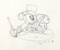 "Animation Art:Production Drawing, Mickey's Circus ""Ringmaster"" Mickey Mouse Production Drawing(Walt Disney, 1936)...."