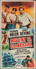 "Movie Posters:Adventure, Mutiny on the Blackhawk and Others Lot (Realart, R-1948). ThreeSheets (5) (41"" X 78-81"") and One Sheets (3) (27"" X 41'). Ad...(Total: 8 Items)"