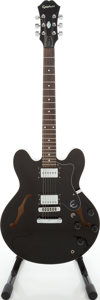 Musical Instruments:Electric Guitars, Epiphone ES-335 DOT Black Semi-Hollow Body Electric Guitar, Serial# S98047624....