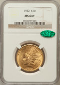 Indian Eagles, 1932 $10 MS64+ NGC. CAC. NGC Census: (10530/2510). PCGS Population(8718/1224). Mintage: 4,463,000. Numismedia Wsl. Price f...