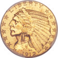 Indian Half Eagles, 1912 $5 MS64 PCGS....