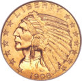 Indian Half Eagles, 1908-D $5 MS64 NGC....
