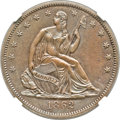 Patterns, 1862 50C Half Dollar, Judd-294, Pollock-352, Low R.7, PR64 BrownNGC....