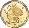 California Fractional Gold, 1865 25C Liberty Round 25 Cents, BG-802, Low R.5, MS66 NGC....