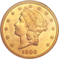Liberty Double Eagles, 1906 $20 MS62 NGC....