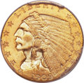 Indian Quarter Eagles, 1909 $2 1/2 MS65 PCGS....