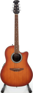 Musical Instruments:Acoustic Guitars, 1990s Applause by Ovation AE 28 Summit Sunburst Acoustic Electric Guitar, Serial # 9028007....