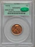 Lincoln Cents, 1972 1C Doubled Die Obverse MS66 Red PCGS. CAC. FS-101....