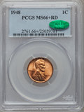 Lincoln Cents, 1948 1C MS66+ Red PCGS. CAC....