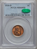 Lincoln Cents, 1930-D 1C MS66 Red PCGS. CAC....