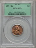 Lincoln Cents, 1931-D 1C MS65 Red PCGS....