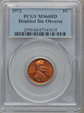 Lincoln Cents, 1972 1C Doubled Die Obverse MS66 Red PCGS. FS-101....