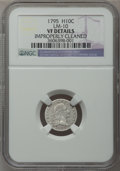 Early Half Dimes, 1795 H10C -- Improperly Cleaned -- NGC Details. VF. V-4, LM-10,R.3....