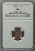 Seated Half Dimes, 1857-O H10C MS66 NGC....