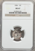 Seated Dimes, 1884 10C MS67 NGC....