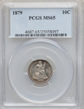 Seated Dimes, 1879 10C MS65 PCGS....