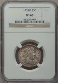 Barber Quarters, 1903-O 25C MS63 NGC....