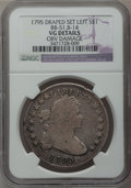 Early Dollars, 1795 $1 Draped Bust, Off Center -- Obverse Damage -- NGC Details.VG. B-14, BB-51, R.2....