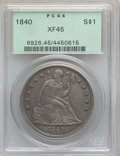 Seated Dollars, 1840 $1 XF45 PCGS....