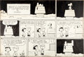 Original Comic Art:Comic Strip Art, Charles Schulz Peanuts Sunday Comic Strip Original Art dated 12-30-62 (United Feature Syndicate, 1962)....