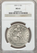 Seated Dollars, 1859-O $1 MS61 NGC....