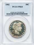 Proof Barber Half Dollars, 1902 50C PR64 PCGS....