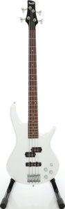 Musical Instruments:Bass Guitars, 2008 Ibanez Gio Soundgear Pearl White Electric Bass Guitar, Serial # I080808093....