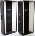 Musical Instruments:Amplifiers, PA, & Effects, 1970s Fender Sound Column 4-8 Black P.A. Speaker Pair....