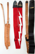 Musical Instruments:Miscellaneous, Vintage Gibson Guitar Strap Lot of 3. ...