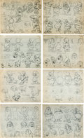 animation art:Model Sheet, Snow White and the Seven Dwarfs Printed Model Sheet Group (Walt Disney, 1937)....