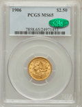 Liberty Quarter Eagles: , 1906 $2 1/2 MS65 PCGS. CAC. PCGS Population (504/269). NGC Census:(517/345). Mintage: 176,300. Numismedia Wsl. Price for p...